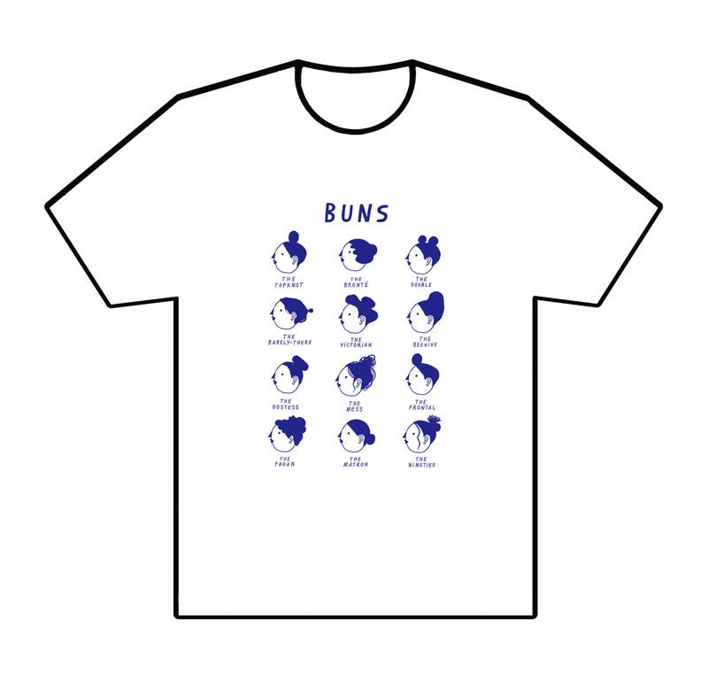 nina cosford buns t-shirt