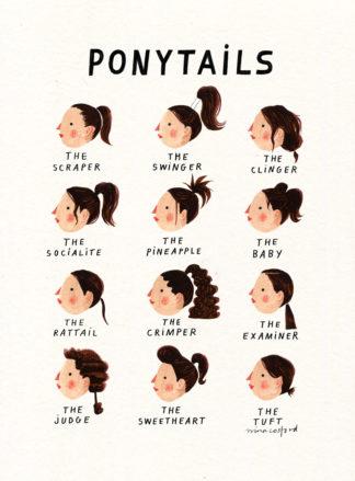 nina cosford ponytails