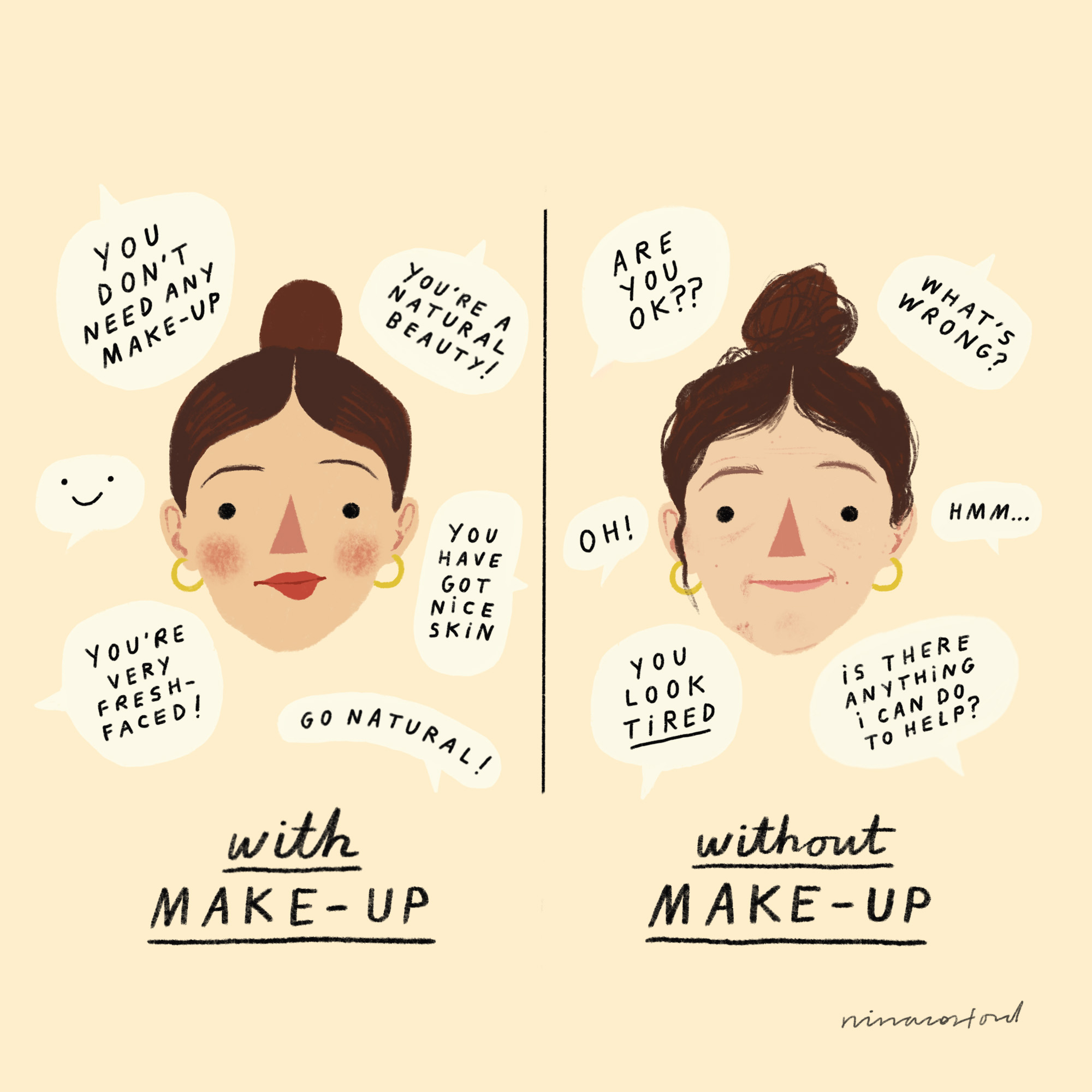 WITH AND WITHOUT MAKE-UP FINAL